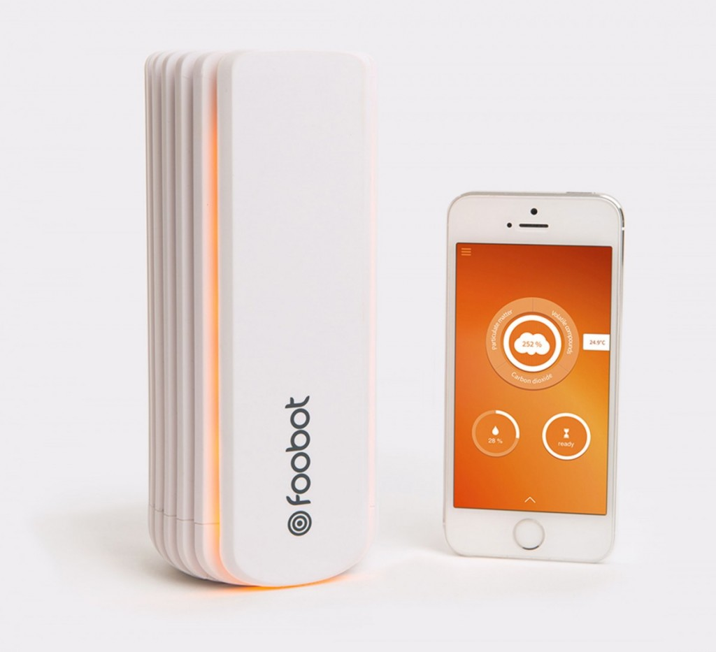 Foobot mesure de la pollution int rieure med in nature for Mesure qualite air interieur