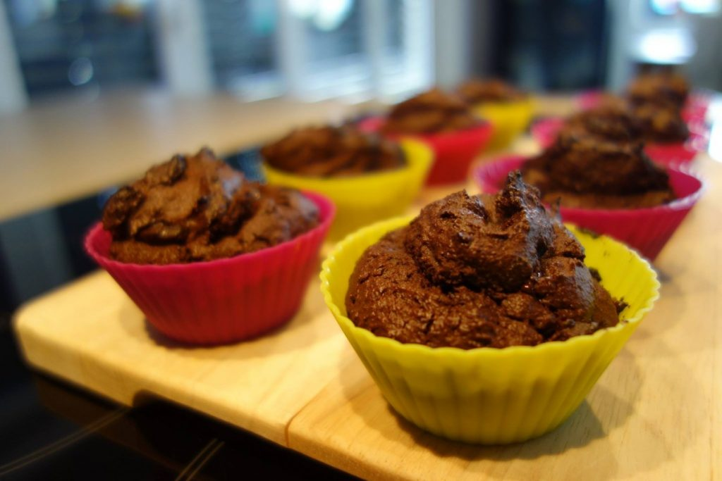 muffin au chocolat sans gluten sans lactose sans blanc d'oeufs